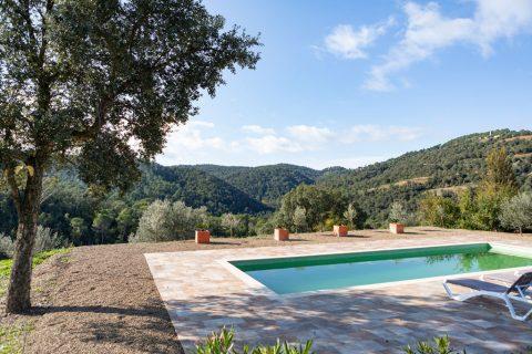 casa rural amb piscina a les gavarres